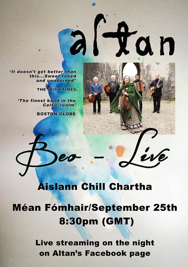 Altan at aislann chill chartha poster